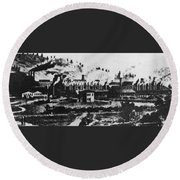 Montana Smelting, 1880s Round Beach Towel