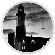 Montauk Point Round Beach Towel