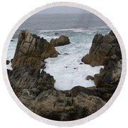 Monterey Bay - California Round Beach Towel