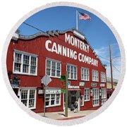 Monterey Cannery Row California 5d25045 Round Beach Towel