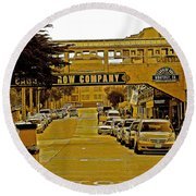 Monterey Cannery Row Company Round Beach Towel