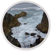 Monterey Rocks - California Round Beach Towel