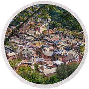 Monterosso From Above - Cinque Terre Round Beach Towel
