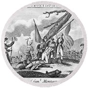 Montgomerys Death, 1775 Round Beach Towel