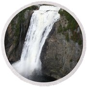 Montmorency Falls - Canada Round Beach Towel