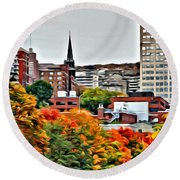 Montreal City Colors Round Beach Towel