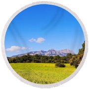 Montserrat Mountain Round Beach Towel