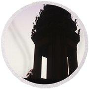 Monument Phnom Penh Cambodia Round Beach Towel