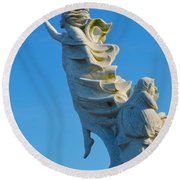 Monument To The Immigrants Statue 1 Round Beach Towel