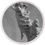 Monument To The Immigrants Statue 3 Round Beach Towel