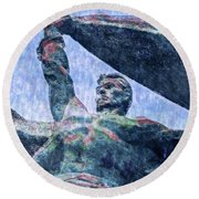 Monument To The People 0131 - 2 Sl Round Beach Towel