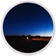Monument Valley At Night 1 Round Beach Towel