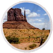 Monument Valley - Elephant Butte Round Beach Towel