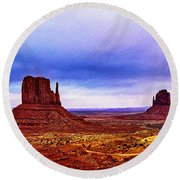 Monument Valley Navajo National Tribal Park Round Beach Towel