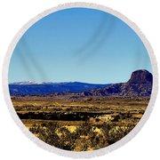 Monument Valley Region-arizona V2 Round Beach Towel