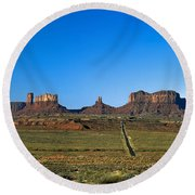Monument Valley Road Round Beach Towel