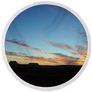 Monument Valley Sunset 2 Round Beach Towel