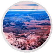 Monument Valley To Be Seen Only If You Were A Bird Round Beach Towel