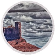 Monument Valley Ut 6 Round Beach Towel