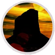 Monument Valley -utah V2 Round Beach Towel