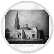 Monumental Church - 1812 Round Beach Towel
