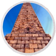 Monumental Heights Round Beach Towel