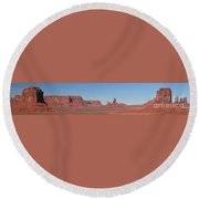 Monumental Landscape Round Beach Towel