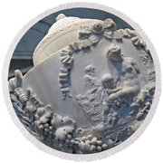 Monumental Urn -- By Clodion? Round Beach Towel