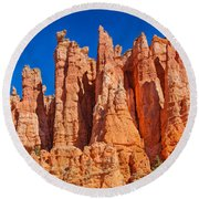 Monuments Of Time Round Beach Towel