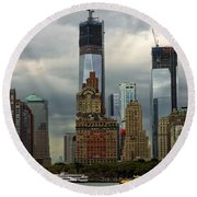 Moody City Round Beach Towel