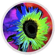 Moody Round Beach Towel