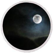 Moon 2 Round Beach Towel