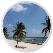 Moon Bay Round Beach Towel