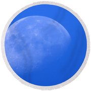 Moon Craters Round Beach Towel