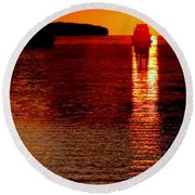 Moon Dance Round Beach Towel