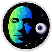 Moon Eye Bi Color Round Beach Towel