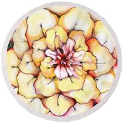 Moon Flower Out Of The Bloomers And Onto The Bloom Round Beach Towel