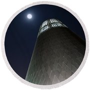 Moon Gazing From Museum Round Beach Towel