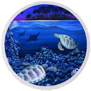 Moon Glow Round Beach Towel by Carolyn Steele