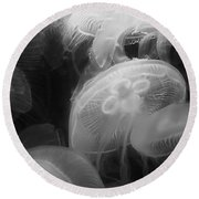 Moon Jellyfish Round Beach Towel
