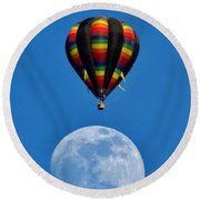 Moon Landing Round Beach Towel