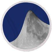 Moon Mountain Round Beach Towel