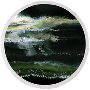 Moon N Light Round Beach Towel