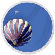 Moon Over Balloon Round Beach Towel