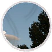 Moon Over Cloud Round Beach Towel
