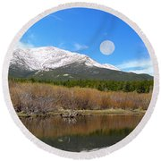 Moon Over St. Malo Round Beach Towel