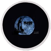 Moon Party Round Beach Towel