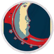 Moon Phase In Hope Round Beach Towel