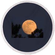 Moon Pines Round Beach Towel