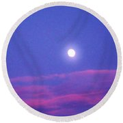 Moon Rise II Round Beach Towel